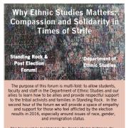 Ethnic Studies event flyer