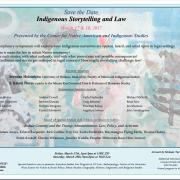 Indigenous Storytelling and the Law flyer - art by Melanie Yazzie