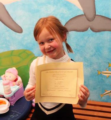 Showing-off Junior Scientist Certificate