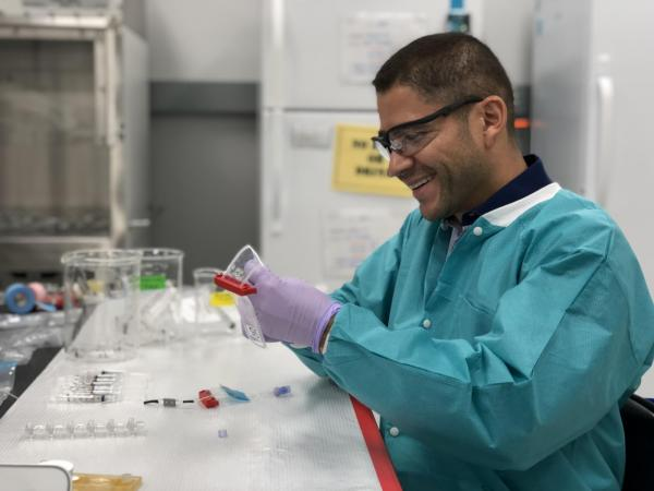 Luis Zea in his lab