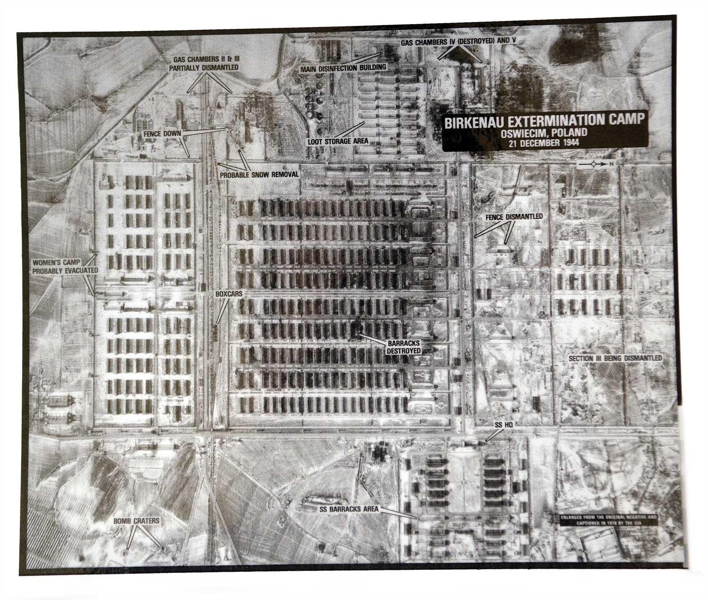 Aerial of Birkenau extermination camp