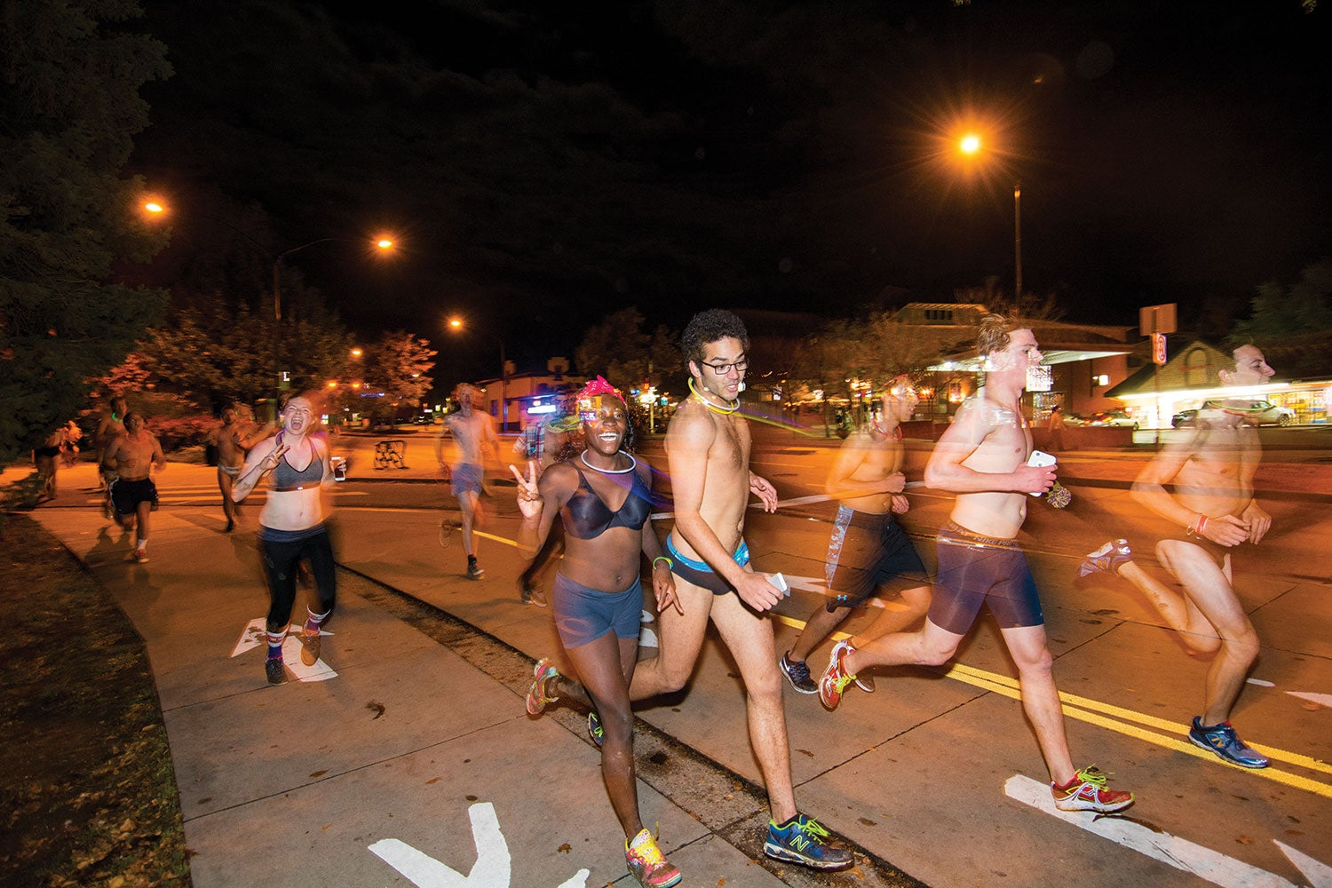 Ohio University Students Run Nearly Naked Mile For Charity
