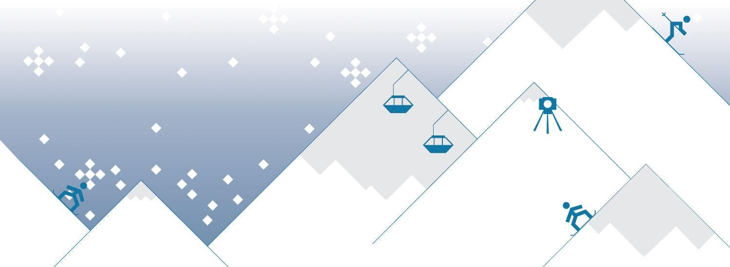 Mountains and skiing graphic