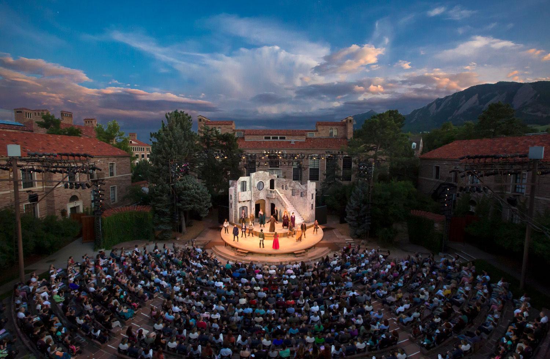 CU Shakespeare Festival aerial photo