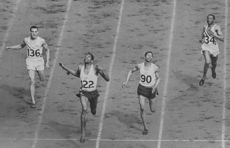 Men's 400 Meter finish, 1948 Olympics
