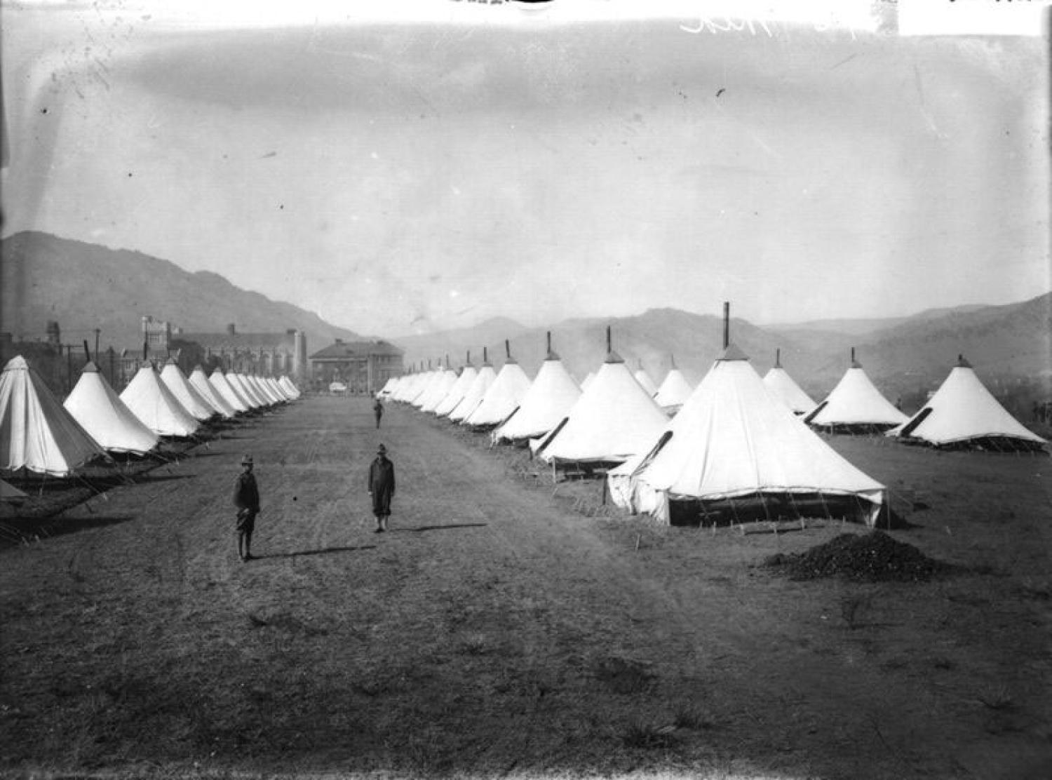 SATC camp at CU Boulder during Spanish Flu