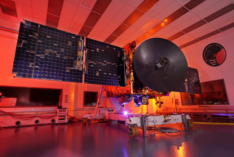 The Emirates Mars Mission Hope Spacecraft prior to shipment to Dubai.