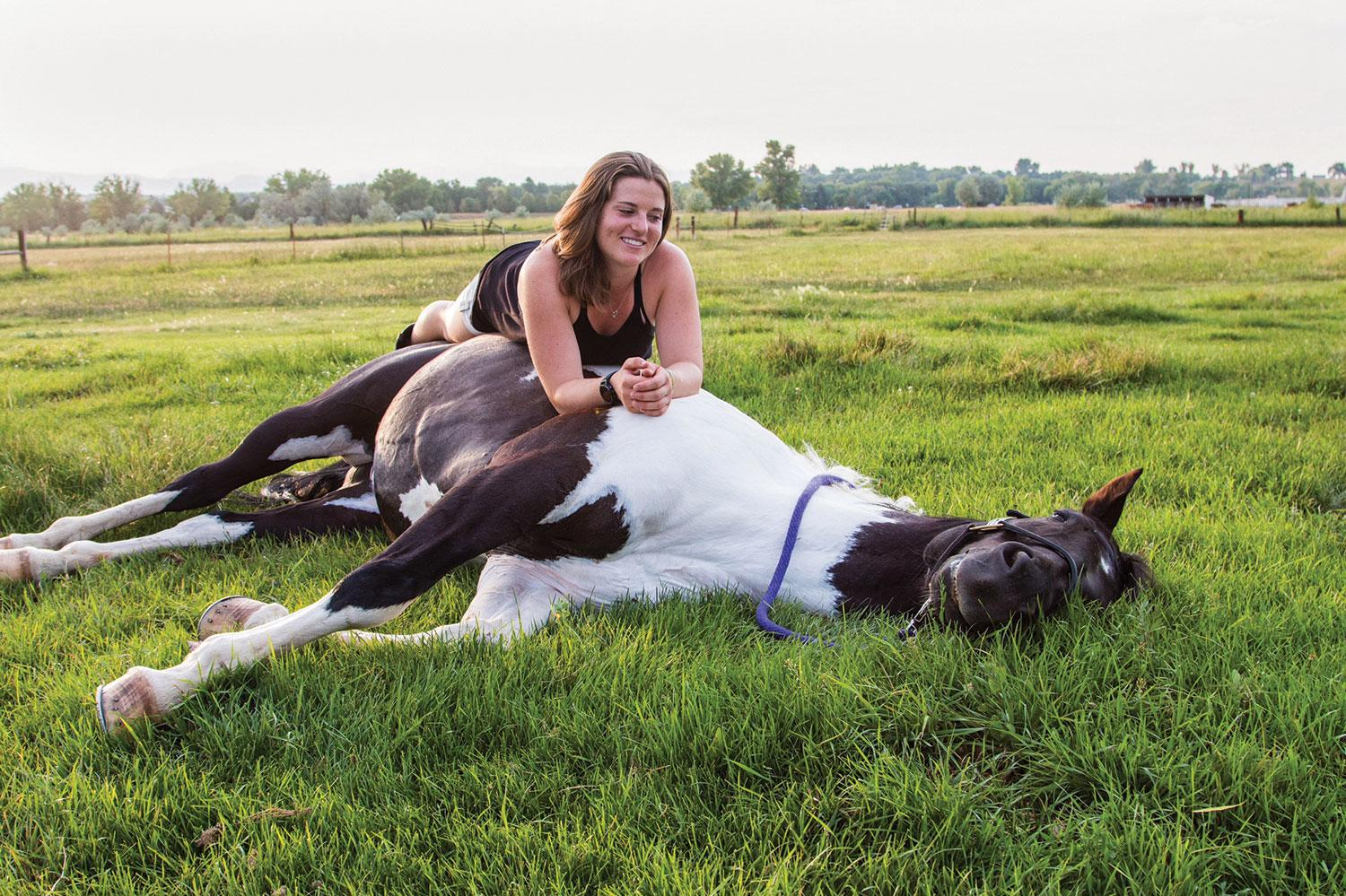 arielle gold and her horse