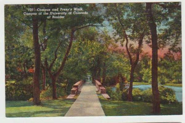 CU Postcard of campus bridge