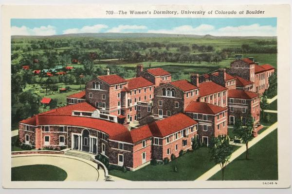 Sewall Hall 1940s Postcard