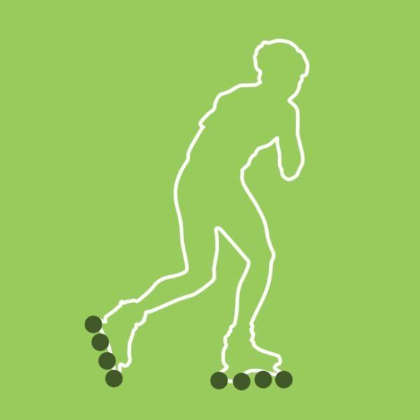 roller skater graphic