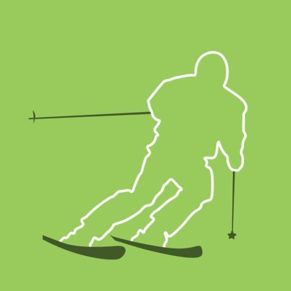 skiier graphic