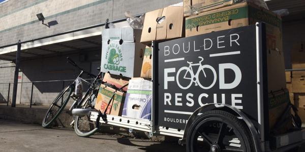 Boulder Food Rescue cart full of food