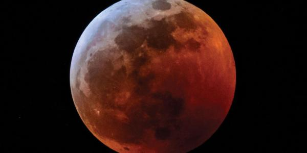 Photo of the Blood Wolf Moon