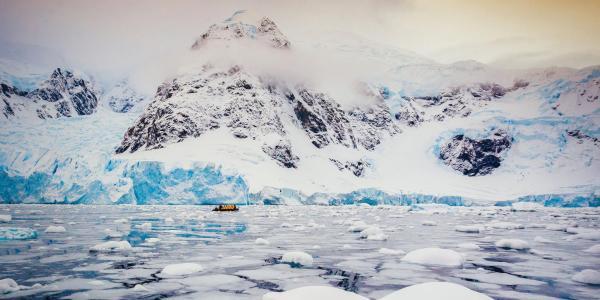 Landscape scene of Antarctica