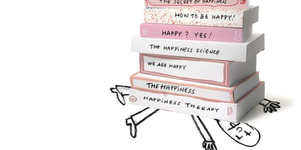 illustration getting crushed by happiness books