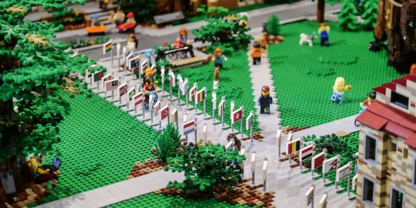 Lego Model of the Conference on World Affairs at CU Boulder