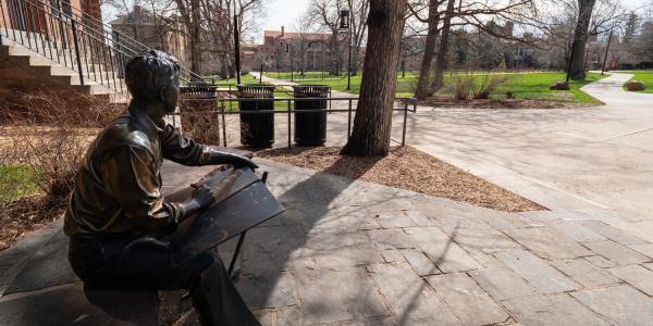 Robert Frost Statue CU Boulder