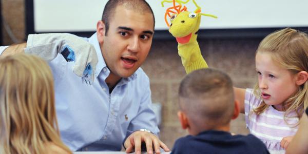 David Rahmani and classroom