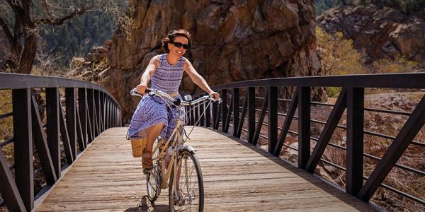 Judy Amabile biking