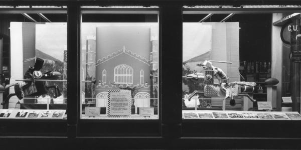 old homecoming window display