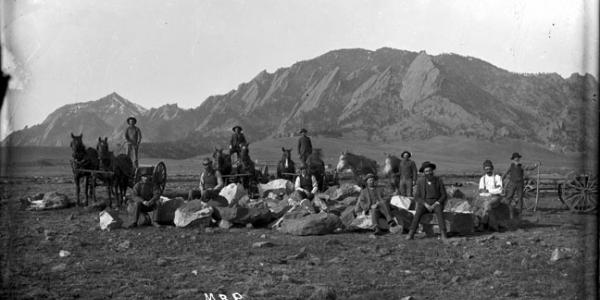 boulder historical photo