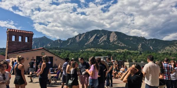 flatirons from roof of the umc