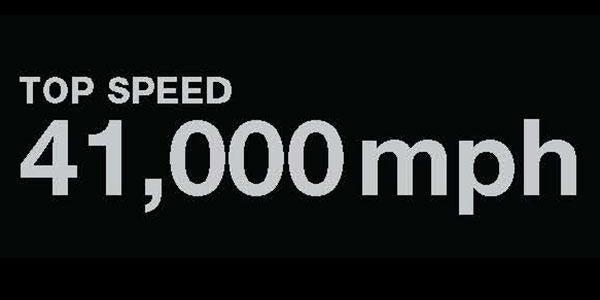 Top Speed: 41,000 mph