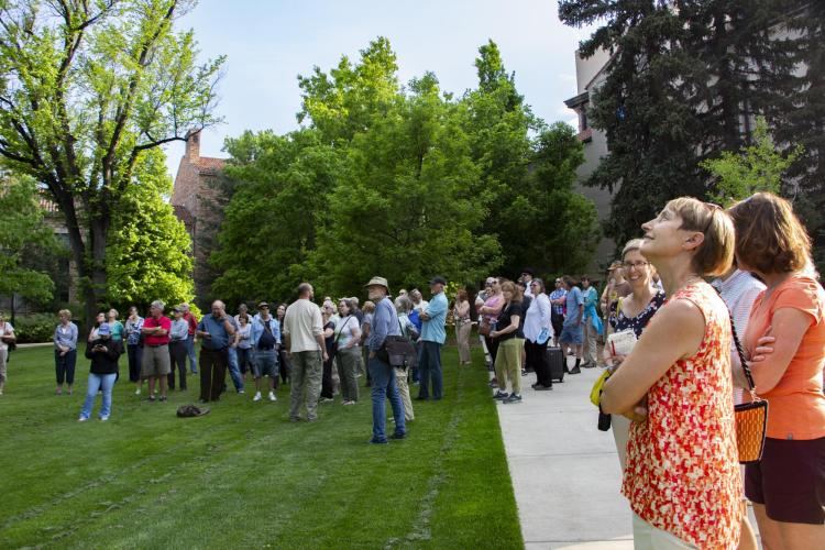 Members of CU and the community gather to learn about trees on campus