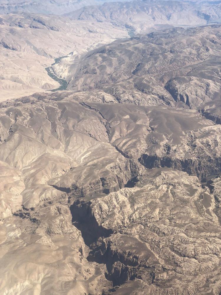 Afghanistan landscape aerial