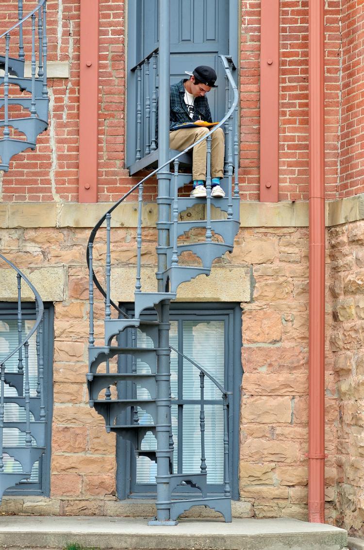 Old Main fire escape