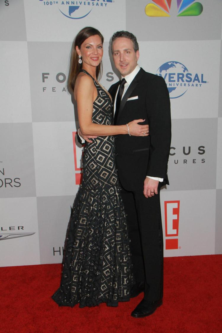 Jonathan Treisman and woman on red carpet