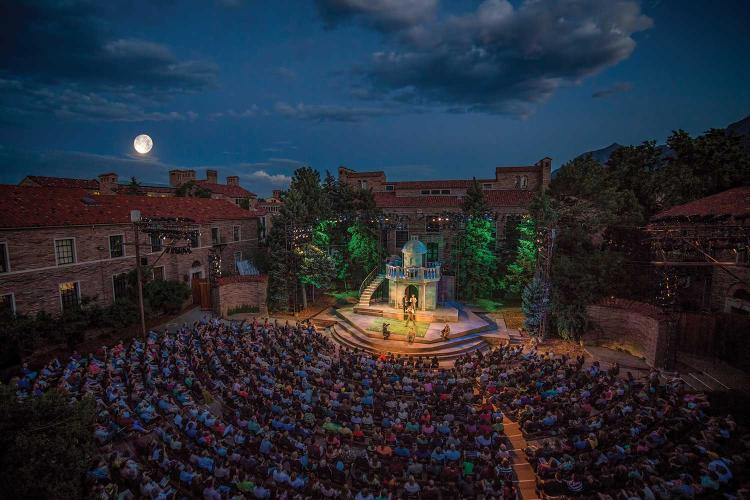 Colorado Shakespeare Festival show at night