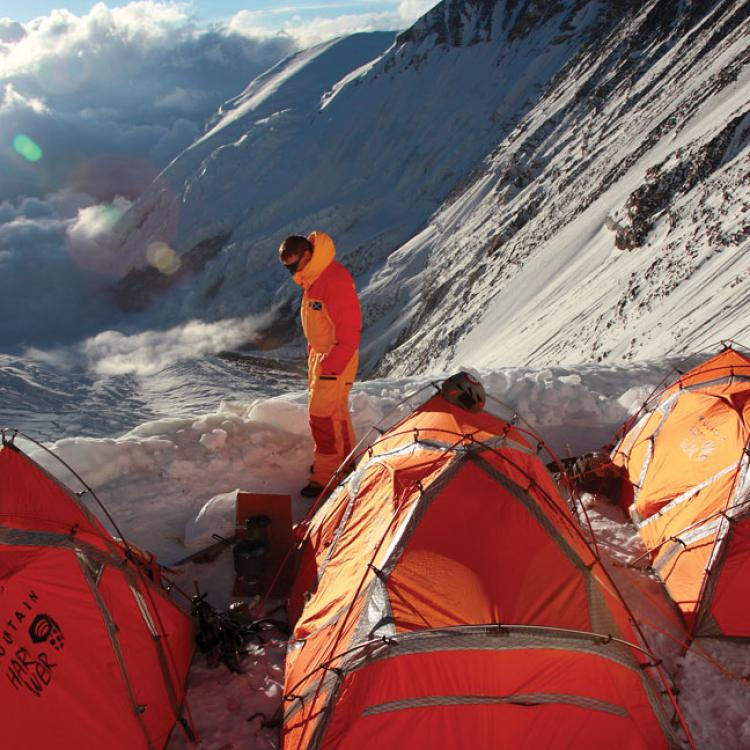 Tents on Mount Everest