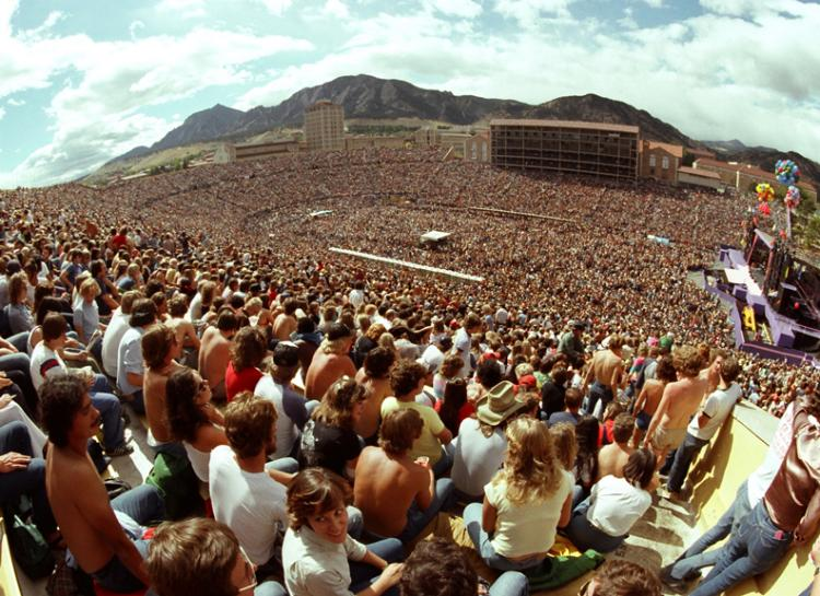 Folsom Field during the Rolling Stones Concert in 1981