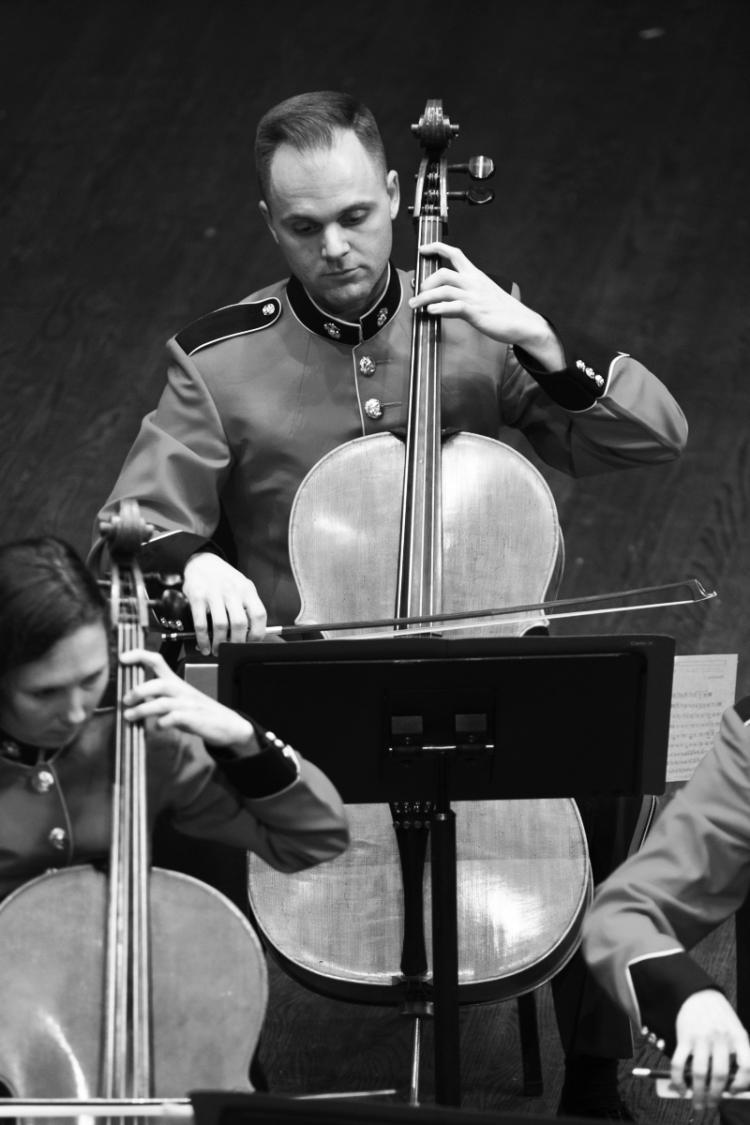 Vaughn playing the cello
