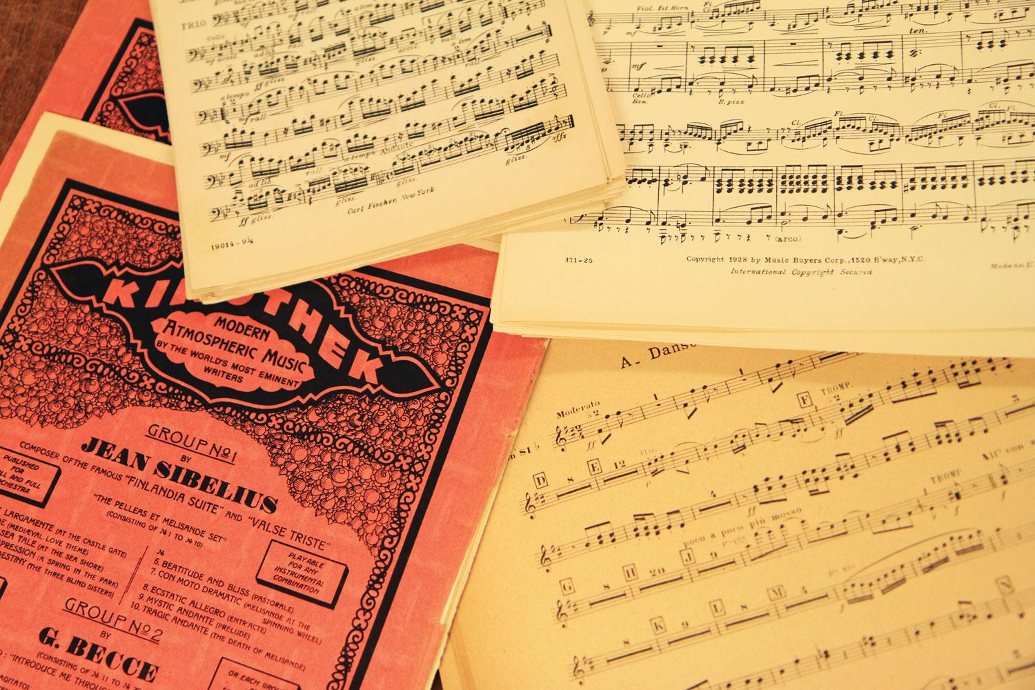 Collage of music sheets