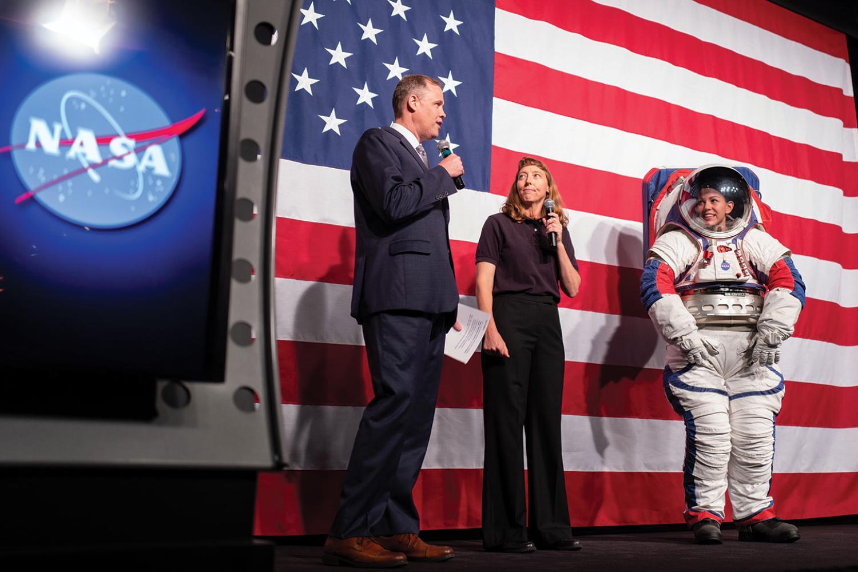 NASA photo of new spacesuit