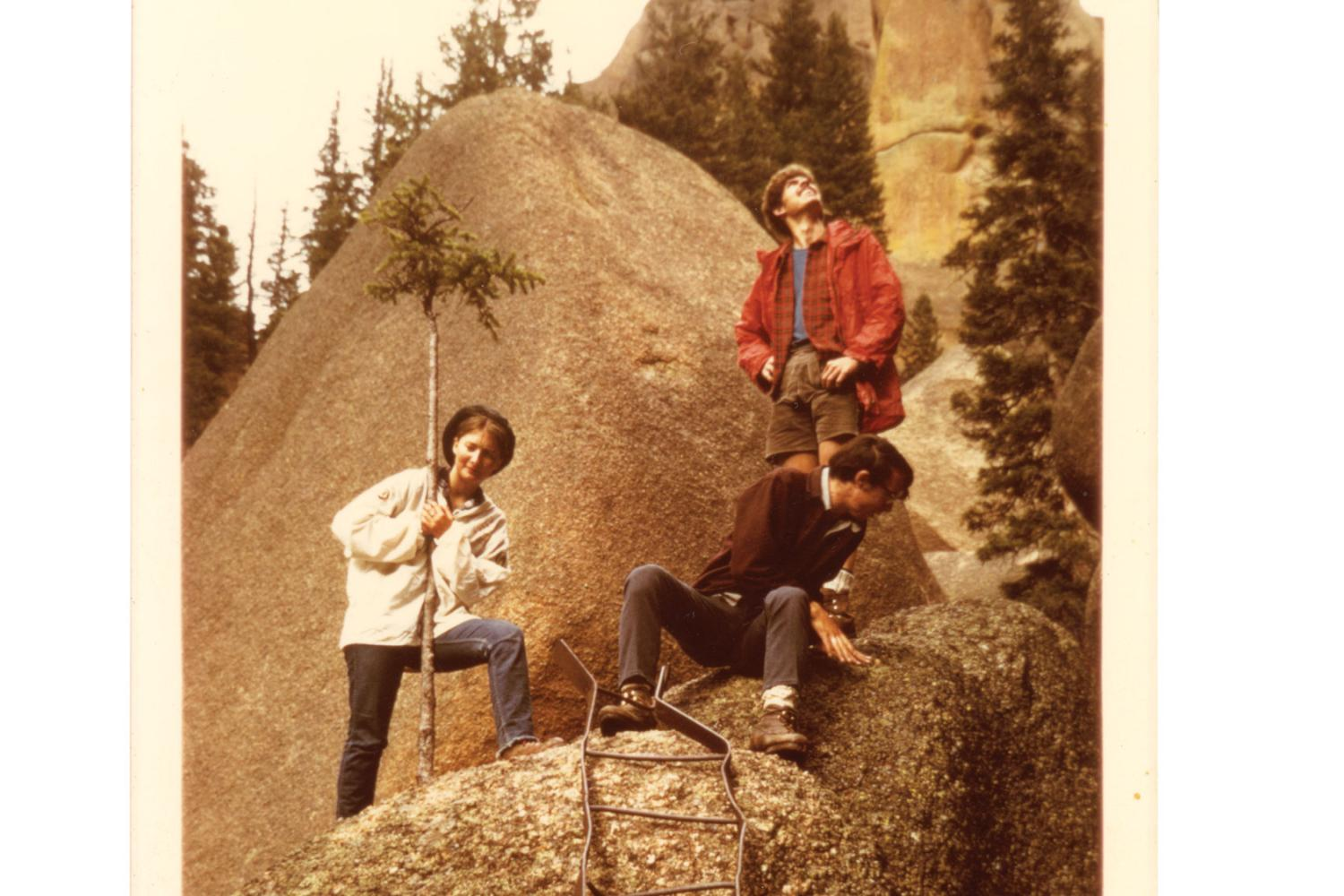 Hikers at Lost Creek trail in 1971