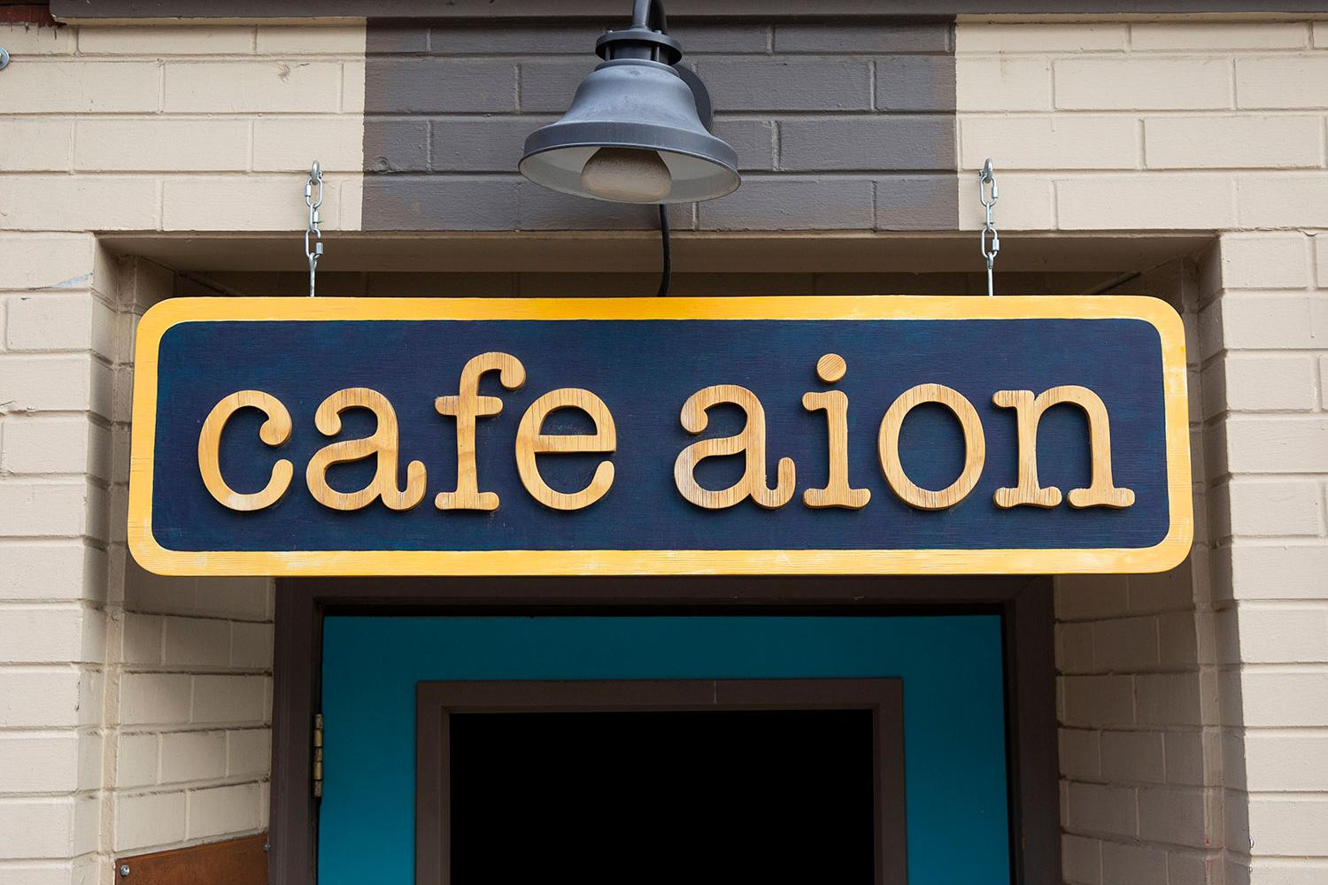 Cafe Aion Sign