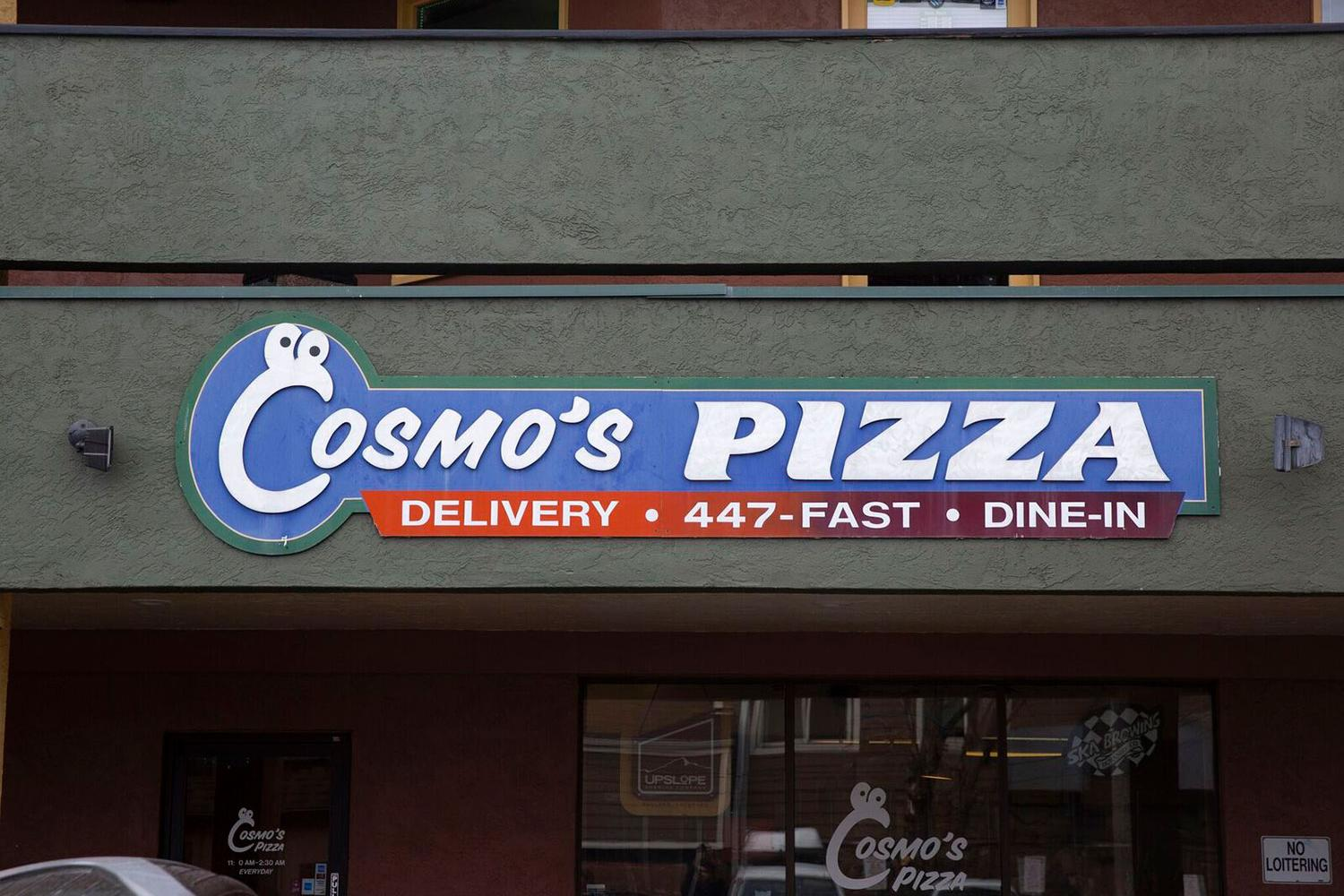 Cosmo's Pizza sign