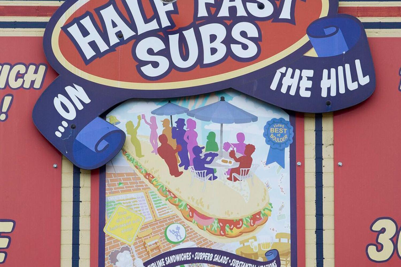 Half-Fast Subs street sign