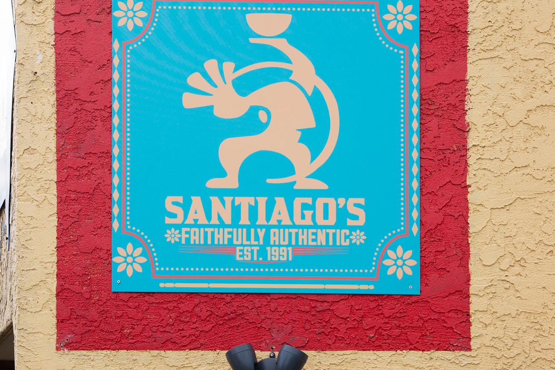 Santiago's Burritos Sign