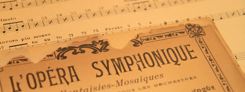 Music sheets close-up
