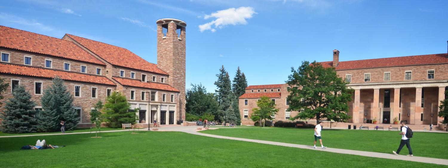 Norlin Quad, featuring Norlin Library and Eaton Humanities