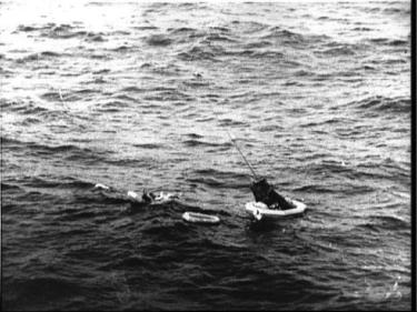 Mercury capsule in ocean