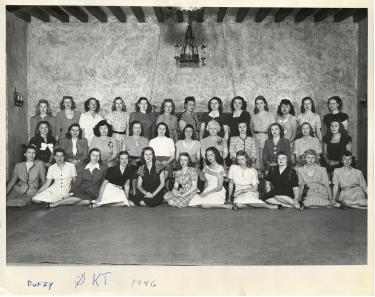sorority group photo from 1946
