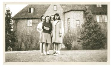 Photo from 1946 in front of a sorority house