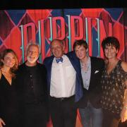 """Randy Weeks (center) of the Denver Center for the Performing Arts with the cast of """"Pippin"""""""