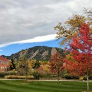 fall and flatirons